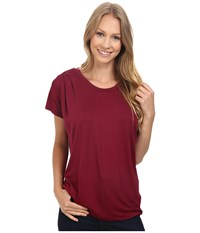 Bobeau Nora Scoop Neck Tee Lumberjack Red Women's T Shirt