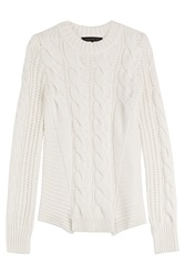 Barbara Bui Pullover With Alpaca And Wool White