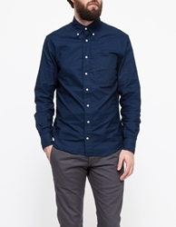 Gitman Brothers Vintage Overdyed Oxford In Navy