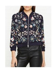 Needle And Thread Butterfly Garden Bomber Jacket Blue