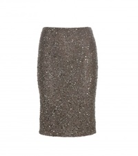 Alice Olivia Ramos Embellished Pencil Skirt Green