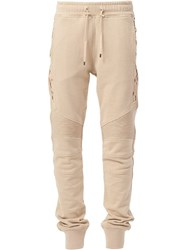 Balmain Track Trousers Nude And Neutrals