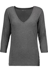 Majestic Stretch Jersey Top Gray