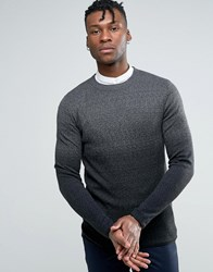 Selected Homme Jumper In Ombre In Wool Black