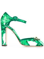 Dolce And Gabbana 'Vally' Mary Jane Pumps Green