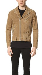 The Kooples Suede Moto Jacket Camel