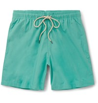Faherty Beacon Mid Length Swim Shorts Blue