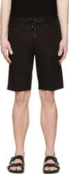Marc Jacobs Black Cotton Bermuda Shorts