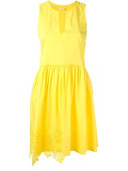 P.A.R.O.S.H. Lace Detail Dress Yellow And Orange