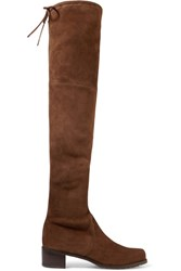 Stuart Weitzman Midland Suede Over The Knee Boots Brown