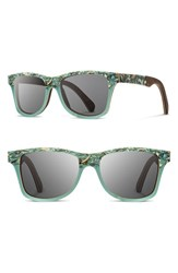 Shwood Women's 'Canby' 55Mm Polarized Seashell And Wood Sunglasses