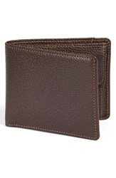 Men's Boconi 'Tyler' Rfid Protected Wallet Brown Coffee
