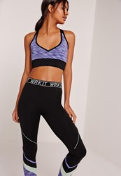 Missguided Active Space Dye Sports Bra Blue Pink