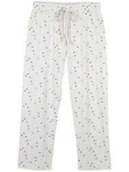 Fat Face Chute Star Print Pyjama Bottoms Grey Marl