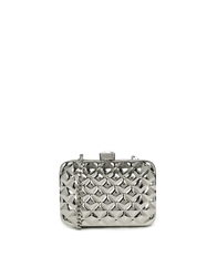 Liquorish Metallic Clutch Bag Silver