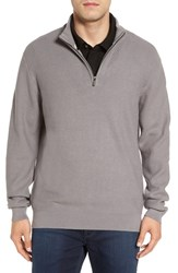Cutter And Buck Men's Big Tall 'Benson' Quarter Zip Textured Knit Sweater
