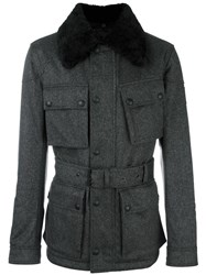 Belstaff Collar Detail Military Jacket Grey