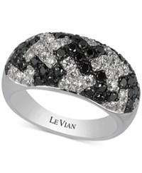 Le Vian Exotics Houndstooth Diamond Ring 1 3 4 Ct. T.W. In 14K White Gold No Color