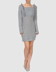 Rose Short Dresses Light Grey