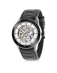 Maserati Corsa Stainless Steel Automatic Skeleton Men's Watch Black