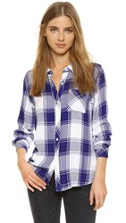 Rails Hunter Shirt Cobalt White