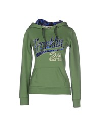 Franklin And Marshall Topwear Sweatshirts Women Military Green