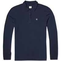 C.P. Company Long Sleeve Cotton Felpa Polo Indigo