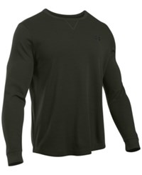 Under Armour Men's Waffle Textured Long Underwear Shirt Artillery Green