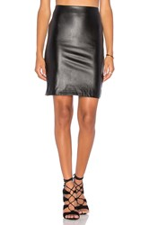 Bishop Young Vegan Leather Pencil Skirt Black