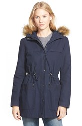 Women's Levi's Parka With Faux Fur And Faux Shearling Navy