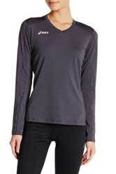 Asics Roll Shot Long Sleeve Tee Gray