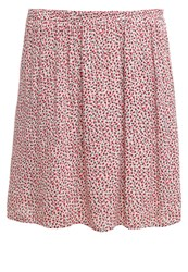 Soyaconcept Manaia Aline Skirt Hot Coral Off White