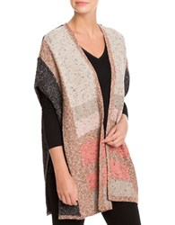Nic Zoe Heathered Poncho Sleeve Wrap Multi