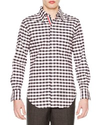 Thom Browne Check Long Sleeve Sport Shirt Red White Blue