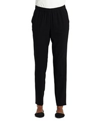 Lafayette 148 New York Millennium Crepe Track Pants Black