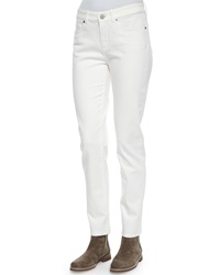 Loro Piana Hidalgo Denim Ankle Jeans White