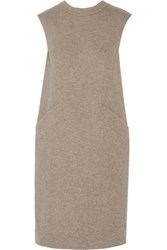 Oscar De La Renta Wool Dress Gray Green
