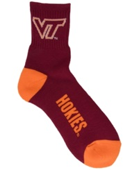 For Bare Feet Virginia Tech Hokies Ankle Tc 501 Socks Maroon Orange