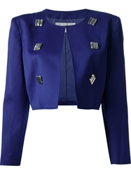 Courreges Vintage Cropped Jacket Suit Pink And Purple