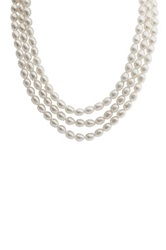 Imperial Pearls Sterling Silver 6 7Mm Freshwater Pearl Triple Strand Necklace White