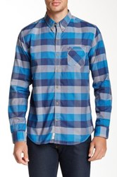 Timberland Allendale River Checkered Long Sleeve Slim Fit Shirt Blue