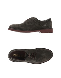 Geox Lace Up Shoes Dark Brown