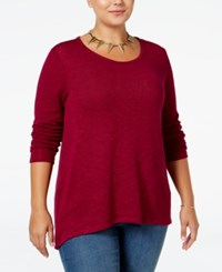 Ing Trendy Plus Size High Low Sweater Orchid