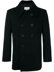 Maison Martin Margiela Double Breasted Peacoat Black