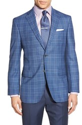 Men's David Donahue Classic Fit Plaid Wool Sport Coat