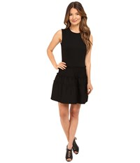 Red Valentino Tech Ponte Jersey Dress Black