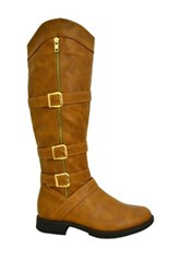 Twisted Amira Tall Boot Brown