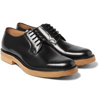 Dries Van Noten Patent Leather Derby Shoes Black