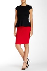 Lush Bodycon Skirt Red
