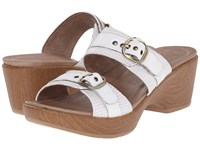 Dansko Jessie White Multi Women's Slide Shoes